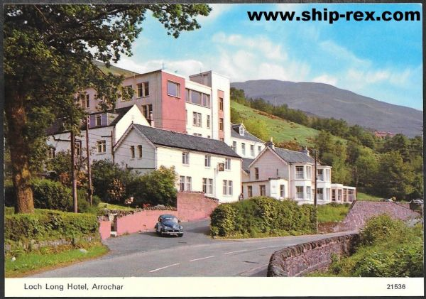 Arrochar, The Loch Long Hotel - postcard